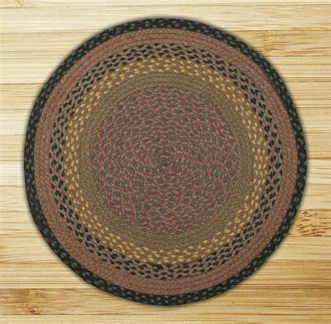 Circle Braided Rug circle brown black and charcoal jute braided earth rug 174