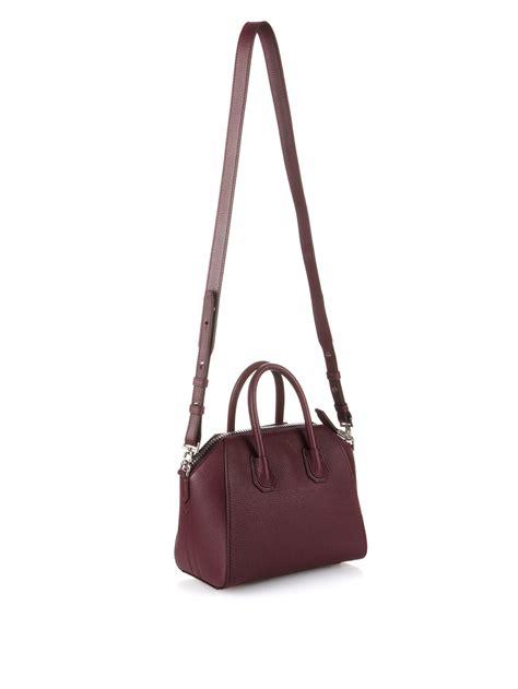 Givenchy Antigona Mini Bag lyst givenchy antigona mini leather cross bag in brown
