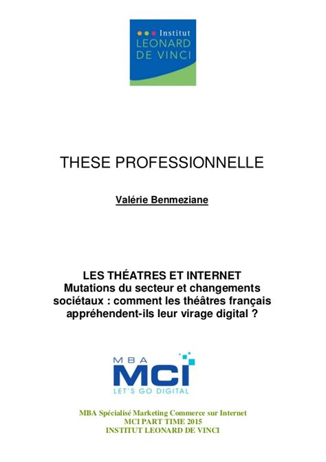 Ashworth College Mba Marketing Linkedin by Th 232 Se Professionnelle Les Th 233 226 Tres Et