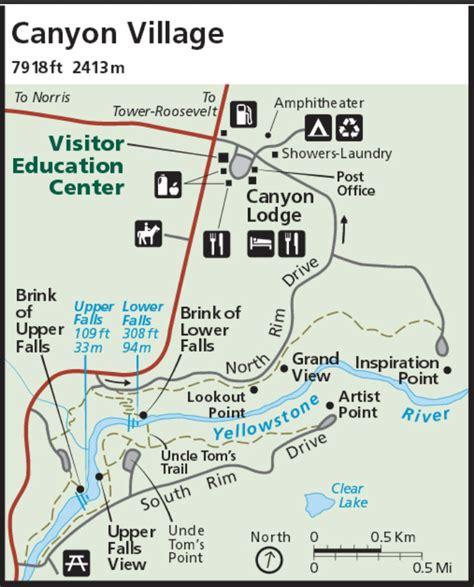 yellowstone lodging map area map yellowstone maps