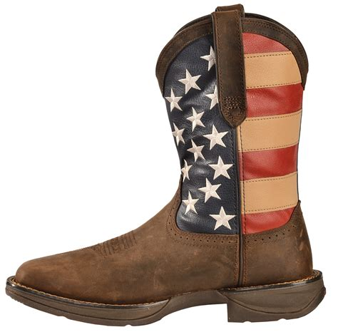 Country Boot 1 3 durango rebel s american flag cowboy boots square