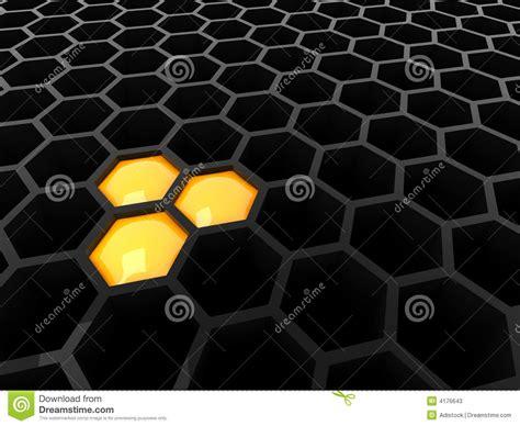 Tech Black 3d black tech honeycomb stock photos image 4176643