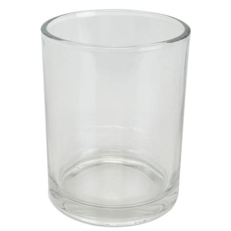 clear glass votive candle holder 4in h