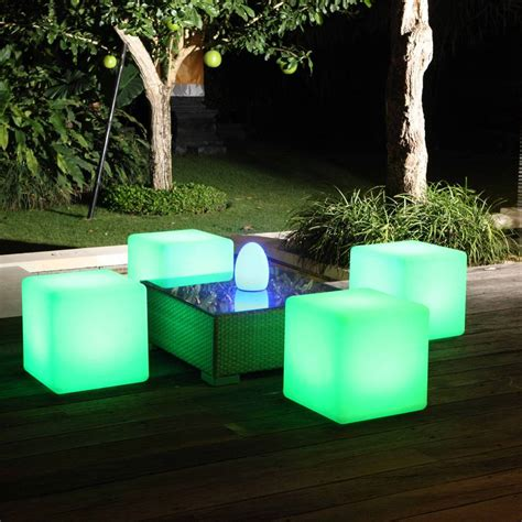 Light Outdoor Furniture Colour Changing Outdoor Light Cube By Jusi Colour Notonthehighstreet
