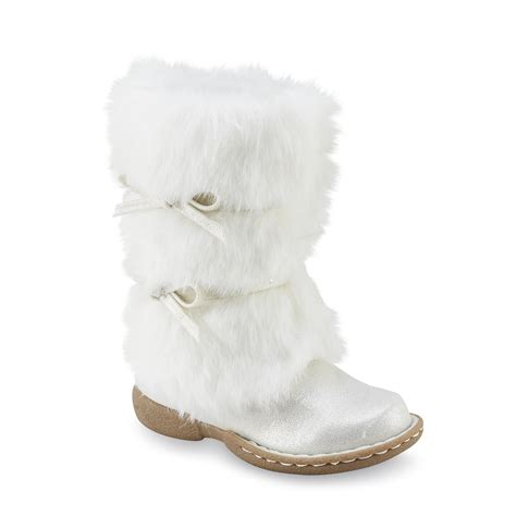 white boots for piper baby toddler s rachelle white faux fur boot