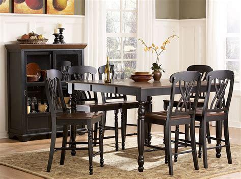 Ohana Dining Table Homelegance Ohana Counter Height Dining Set Black D1393bk 36 Homelegancefurnitureonline