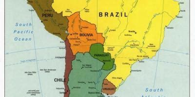 neighboring countries of brazil map of brazil and surrounding countries map of brazil