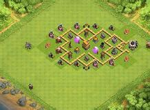 coc layout rh5 hybrid anti giant th5 hybrid base by 23volot clash of