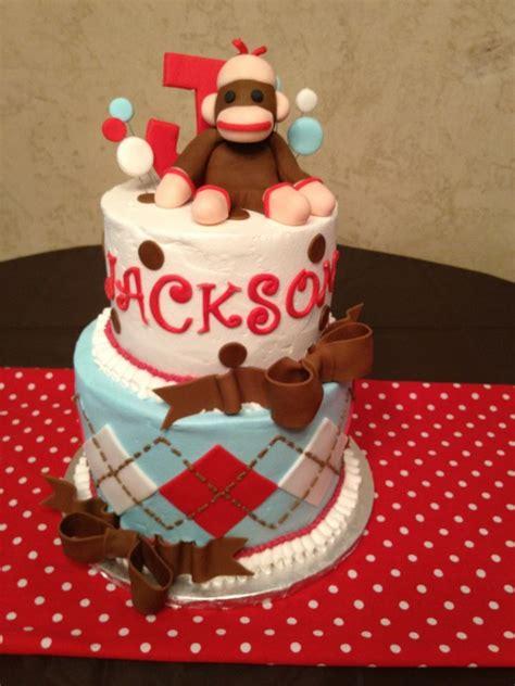 a sock monkey cake sock monkey baby shower cake showers