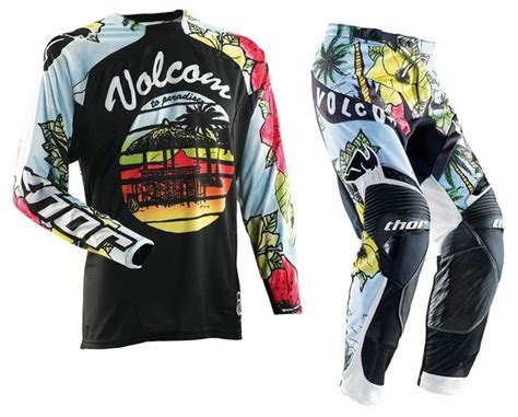 thor motocross gear thor mx 2014 volcom aloha motocross gear set