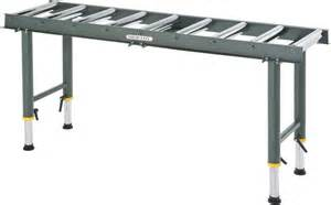 roller tisch shop fox d2271 heavy duty 9 roller table infeed outfeed