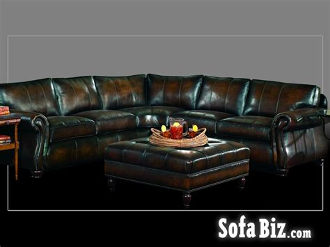 Bernhardt Gogh Leather Sectional by Sofa Biz
