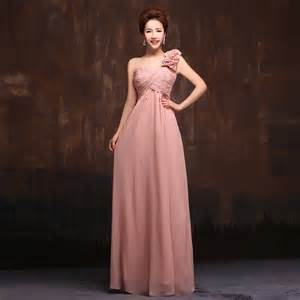 wholesale 2015 new 5 styles long chiffon old rose pink