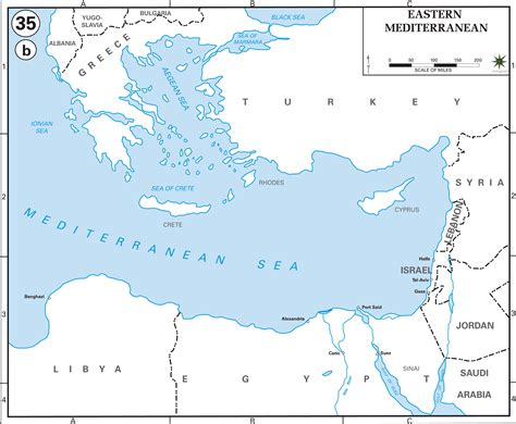 mediterranean countries map map of eastern mediterranean countries