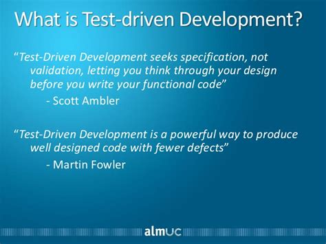 validation pattern fowler test driven development practices in white box test automation