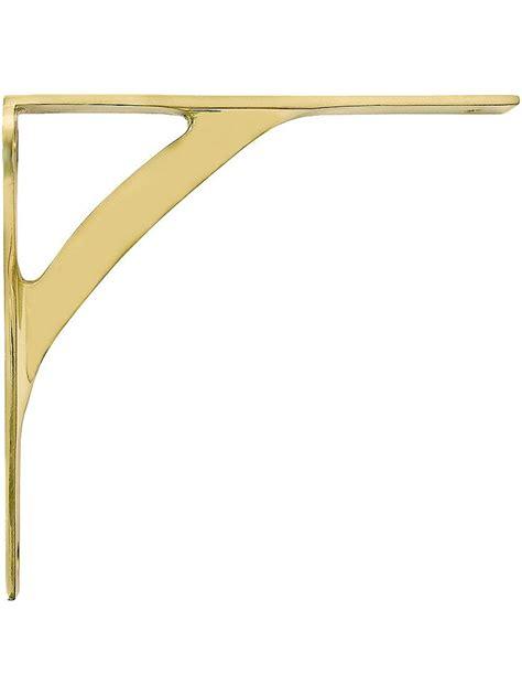 4 Shelf Bracket by 6 Quot X 6 1 4 Quot Solid Brass Shelf Bracket