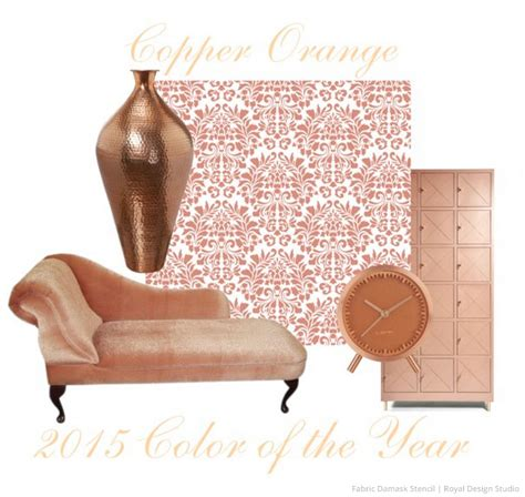pattern of the year 2015 decorating with the 2015 color of the year and stencils