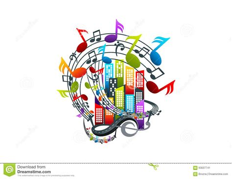Music Logo Design Stock Vector   Image: 63037741