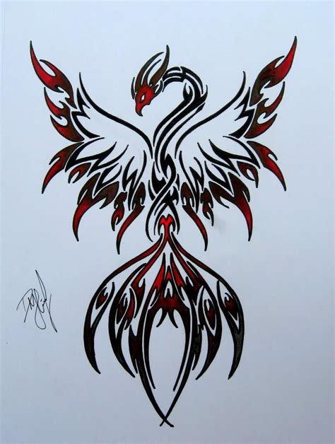 tribal phoenix back tattoo 32 designs