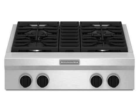 30 in gas cooktop kitchenaid kgcu407vss pro style 174 30 quot gas cooktop