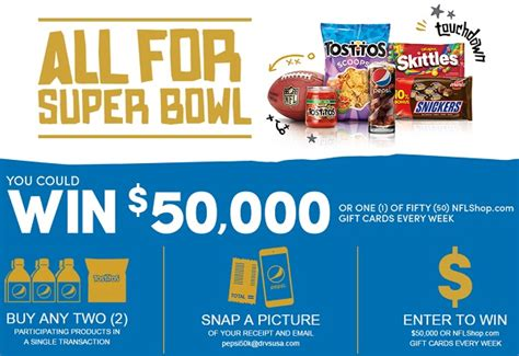 Superbowl Sweepstakes - pepsico and mars super bowl 50 sweepstakes win 50k cash sweepstakesbible