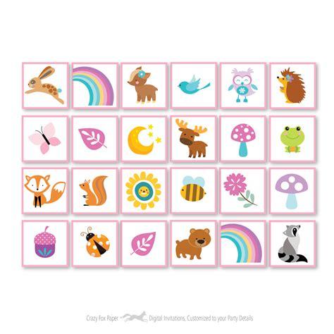 printable unicorn bingo woodland unicorn bingo game kid s printable bingo game