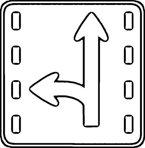 direction sign coloring page supercoloring com