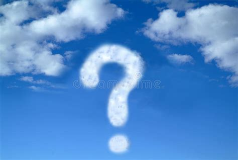 question mark   sky stock image image  fluff