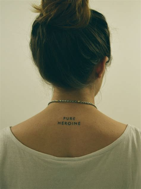 small word tattoos tumblr small neck