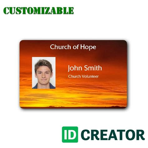 church volunteer card template membership id card template templates data