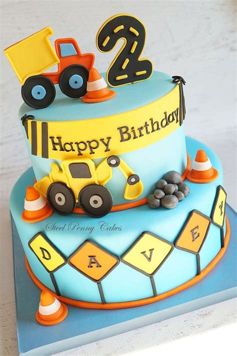 construction 2nd birthday cake southern blue celebrations construction cake ideas