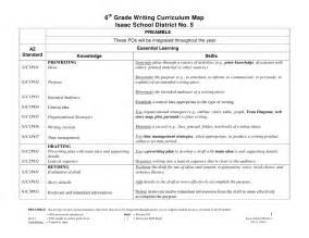 6th Grade Essay Writing by Sixth Grade Writing Curriculum Map