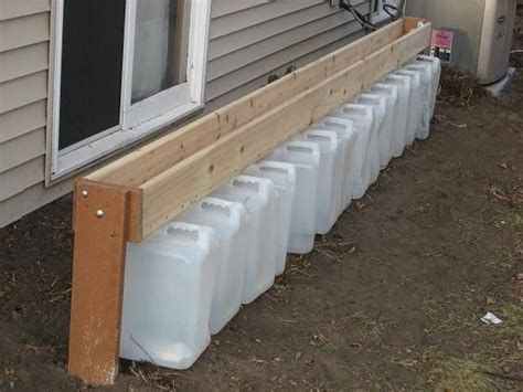 gutterless roofs home design forum diy rain barrel