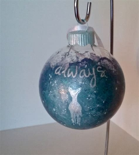 harry potter inspired patronus always christmas ornament