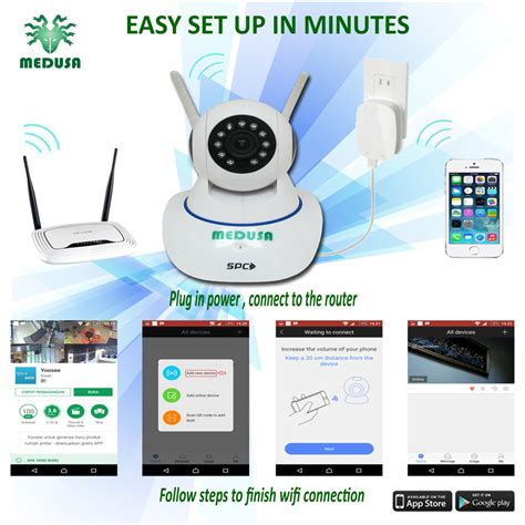 Spc Ip Kst 1 Kamera Cctv by Medusa Spc Baby Ip Kst 1 1 0mp Wifi Onvif Sd Card Two