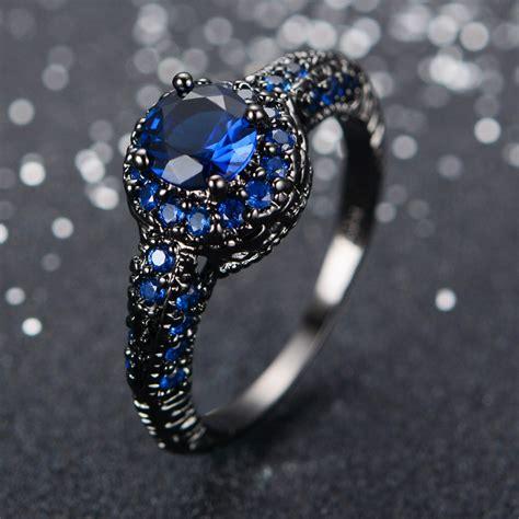blue engagement ring  women jagfoxcom