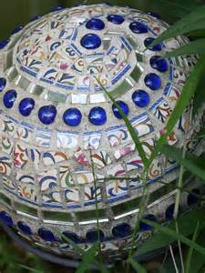 recycle bowling balls into mosaic garden art diy for life
