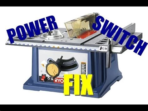 ryobi table saw safety key how to fix ryobi 10 quot table saw power switch