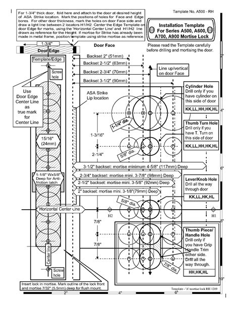mortise lock template door backset template router working through spaces in