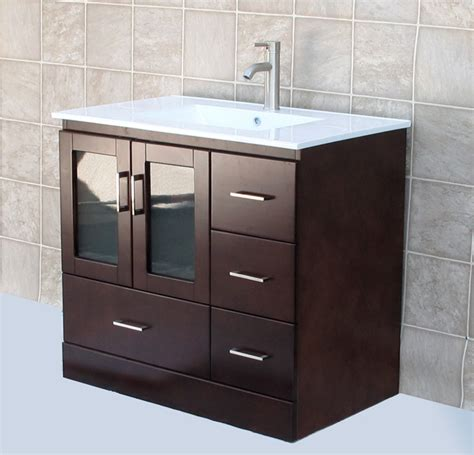 36 quot bathroom vanity cabinet ceramic lavatory top with