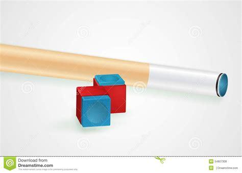 Billiards Cue Chalk billiard cue and pool chalk stock vector image 54807308