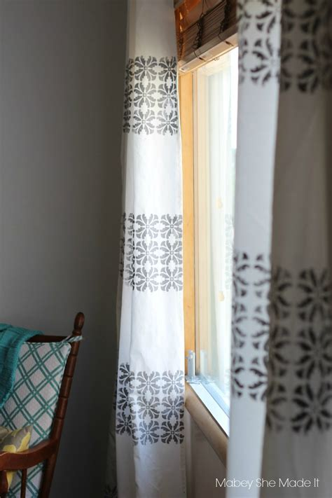 stencil curtains diy stenciled curtains mabey she made it