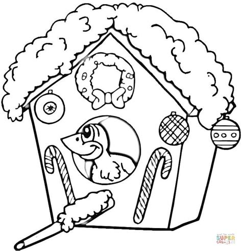 coloring pages bird houses christmas birdhouse coloring page free printable