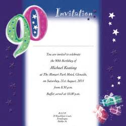 90th birthday invitation wording sles quotes