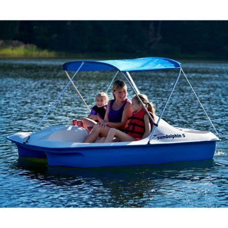 sun dolphin paddle boat canopy blue sun dolphin 5 paddle boat with canopy walmart