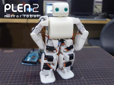 Plen The Skateboarding Robot by 3ders Org 3d Printed Open Source Humanoid Robot Plen2
