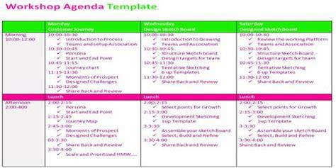 workshop agenda assignment point