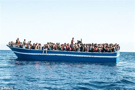 refugee boats to italy italy threatens to ban migrant vessels daily mail online