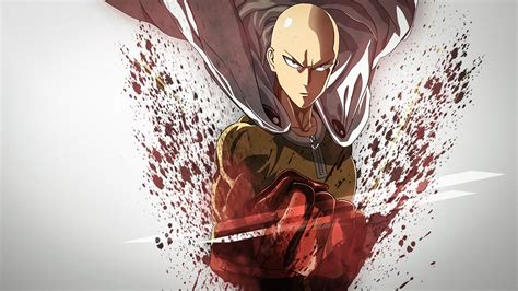 wallpaper iphone 6 one punch man saitama wallpaper and background image 1366x768 id 672060