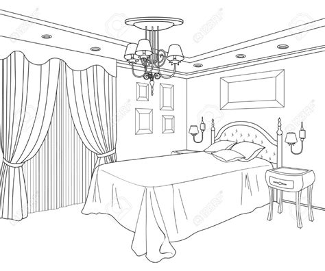 Bedroom For Coloring | girls bedroom coloring page coloring home